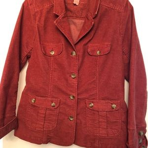 Corduroy Burnt Orange Blazer Jacket
